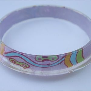 Jewelry - Far Out Purple Psychedelic Acrylic Bangle